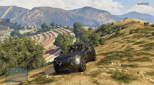 You can lose the police pursuit e.g. by driving around the wilderness - 83: The Big Score #2 - the Obvious variant - Main missions - Grand Theft Auto V Game Guide