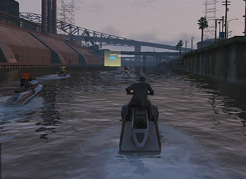 Suit and a water scooter sounds great together... doesnt it?. - Sea Races | Activities - Activities - Grand Theft Auto V Game Guide