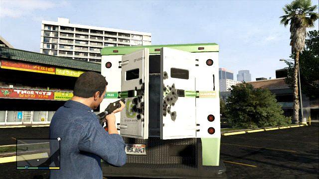 Выстрелите в замок, чтобы открыть фургон - GTA 5: Деньги - как быстро заработать?  Самый быстрый способ получить деньги - Основы - Гайд по GTA 5
