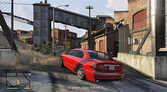 The driveway to the foundrys premises - Ending C: The Third Way - Main missions - Grand Theft Auto V Game Guide