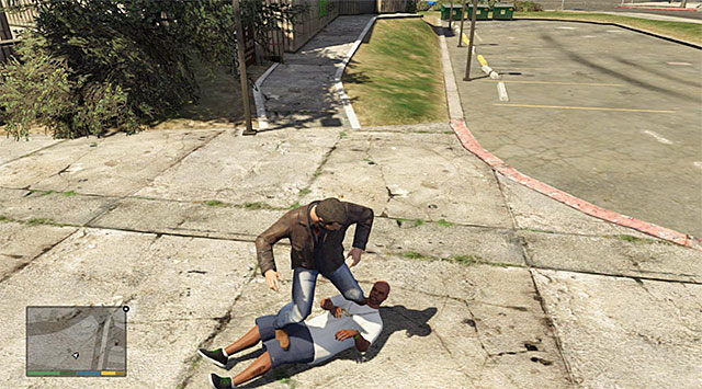 I recommend that you first cut to Michael, because his target (Stretch) is located within the shortest distance of the foundry, in the Strawberry district - Ending C: The Third Way - Main missions - Grand Theft Auto V Game Guide