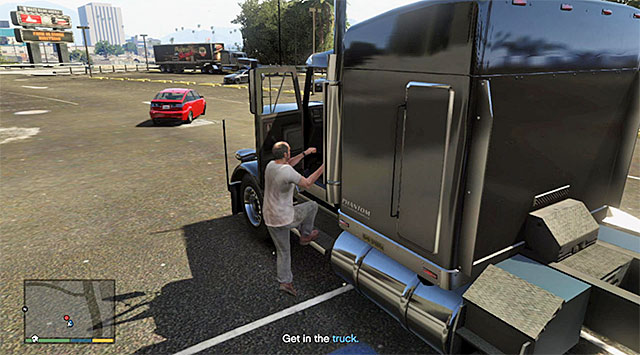 Truck which will be used in the race - 22: Fame or Shame - Main missions - Grand Theft Auto V Game Guide