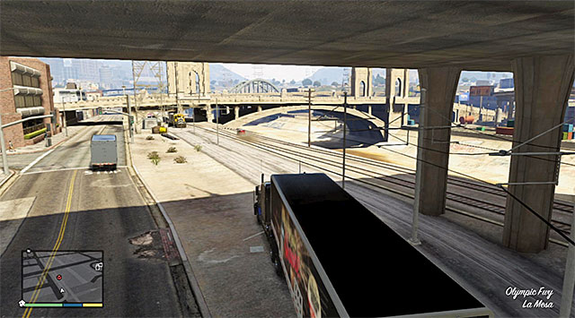 Ignore the fact that Lazlows car is in the safe distance from your truck, because this chase cannot end too early - 22: Fame or Shame - Main missions - Grand Theft Auto V Game Guide