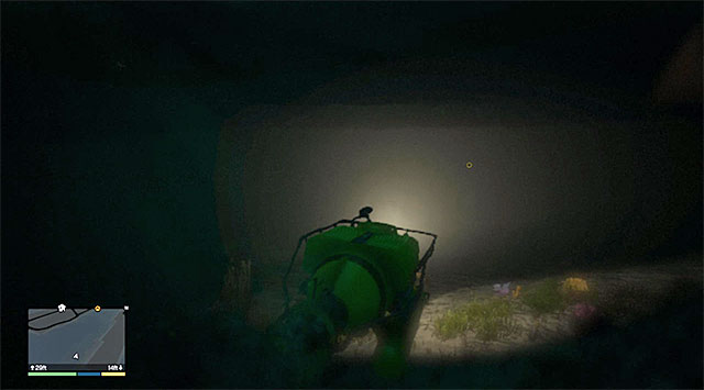 Your destination is the yellow underwater circle - 31: Minisub - Main missions - Grand Theft Auto V Game Guide