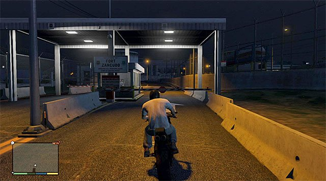One of the entrances to the base - 33: Cargobob - Main missions - Grand Theft Auto V Game Guide