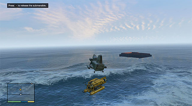 The spot of releasing the sub - 34: The Merryweather Heist - the Offshore variant - Main missions - Grand Theft Auto V Game Guide