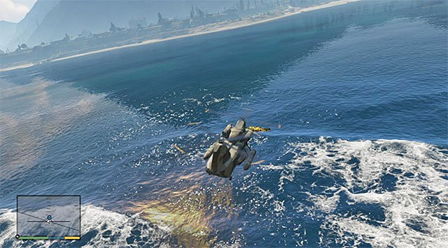 Attach the sub again and fly towards the airport - 34: The Merryweather Heist - the Offshore variant - Main missions - Grand Theft Auto V Game Guide