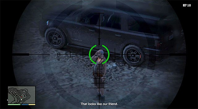 Sniper rifle is a good way to kill Ostrowski - Maude: Ralph Ostrowski - Strangers and Freaks missions - Grand Theft Auto V Game Guide