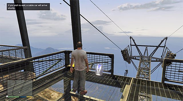 At the top of mountain you can get in two basic ways: using cable-railway or riding via one of the slopes with motorcycle or quad - Maude: Glenn Scoville - Strangers and Freaks missions - Grand Theft Auto V Game Guide
