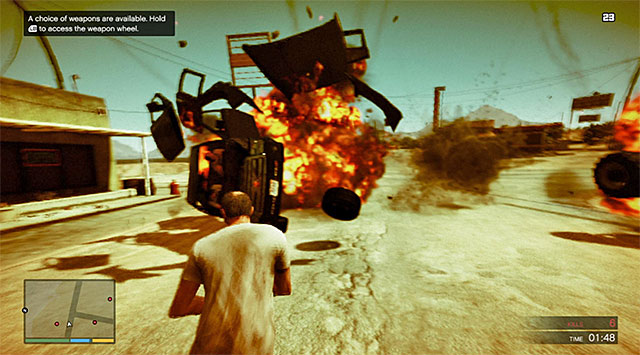 Grenades will help you blow things up - Rampage One - Strangers and Freaks missions - Grand Theft Auto V Game Guide