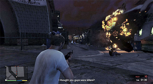 Fight takes place nearby a long alley - Rampage Three - Strangers and Freaks missions - Grand Theft Auto V Game Guide