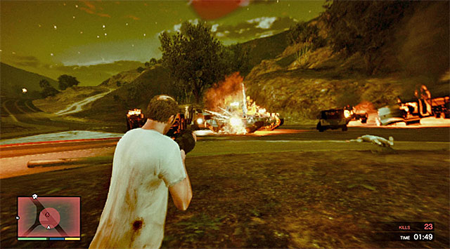 Tank can be destroyed only after several hits from grenade launcher - Rampage Four - Strangers and Freaks missions - Grand Theft Auto V Game Guide