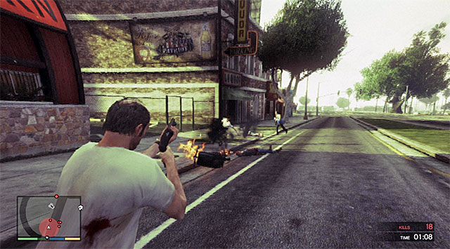 Watch out for enemies on monocycles - Rampage Five - Strangers and Freaks missions - Grand Theft Auto V Game Guide