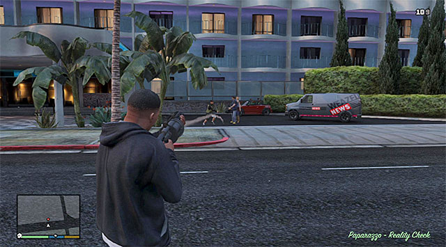 The easiest way to eliminate Beverly and his goons is with grenade launcher - Paparazzo - Reality Check - Strangers and Freaks missions - Grand Theft Auto V Game Guide