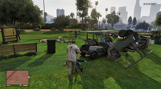 The best way to eliminate Mark and his bodyguards using firearms - Vinewood Souvenirs - Mark - Strangers and Freaks missions - Grand Theft Auto V Game Guide