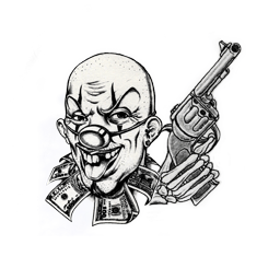Clown and Gun tattoo - Awards - Basics - Grand Theft Auto V Game Guide