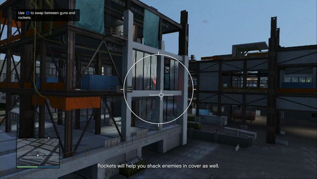 Try to use the camera from inside the vehicle camera. - Lessons 6-10 - Heists (DLC) - Grand Theft Auto V Game Guide