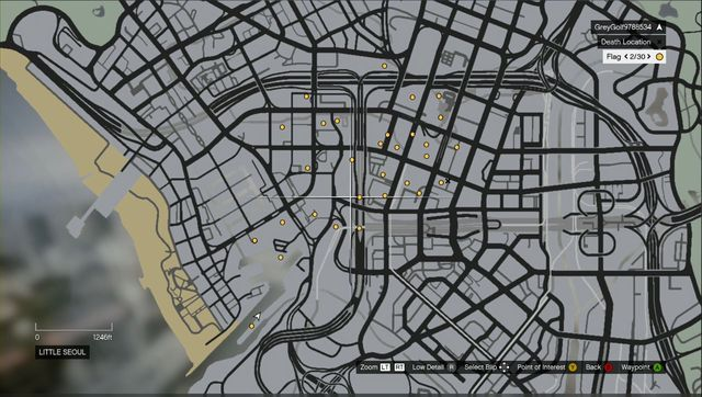 Map with the targets. - Lessons 6-10 - Heists (DLC) - Grand Theft Auto V Game Guide