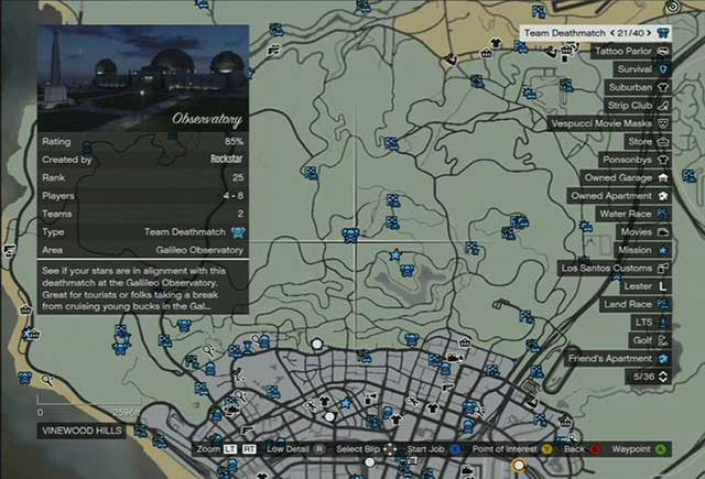 Starting a job via the world map - Joining jobs - Basics - Grand Theft Auto V Game Guide