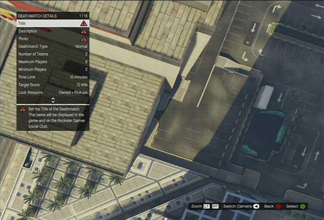 Deathmatch details - Deathmatch Creator - Basics - Grand Theft Auto V Game Guide