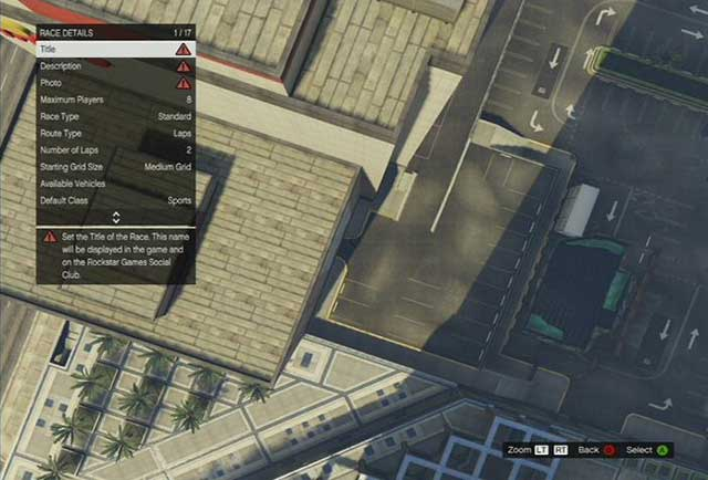 Race details - Race Creator - Basics - Grand Theft Auto V Game Guide