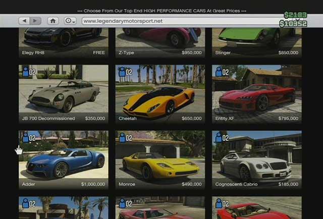 Gtav Buying Cars