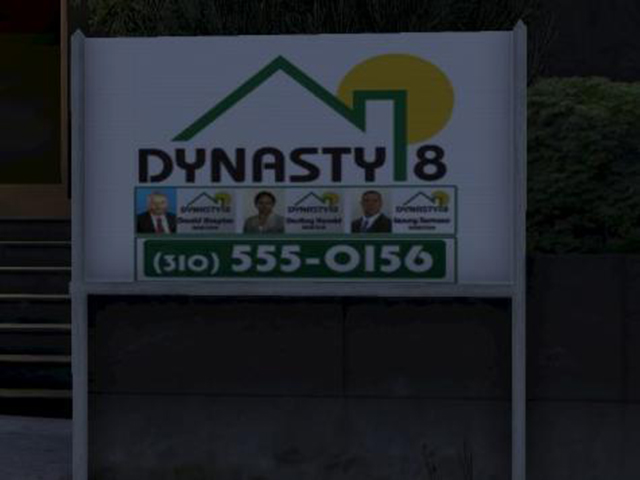 Dynasty 8 sign - Real estate agencies - Basics - Grand Theft Auto V Game Guide