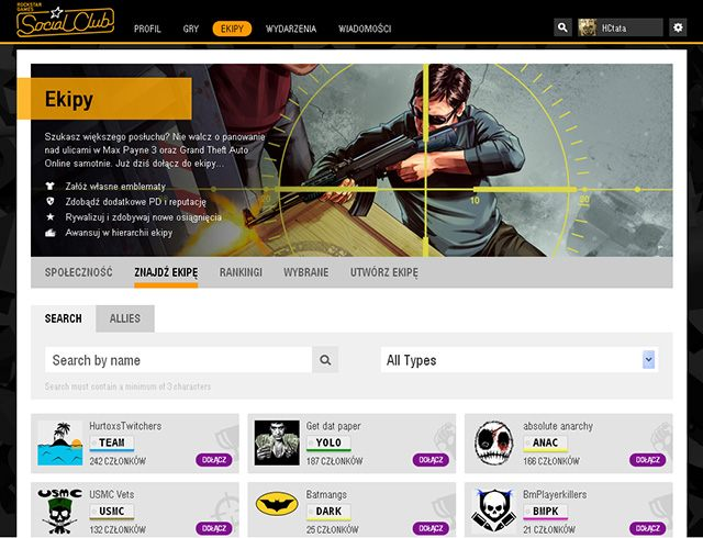Click on Join to become the crew member - Joining an existing crew - Basics - Grand Theft Auto V Game Guide