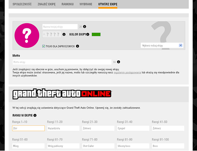 Type in your crews data on the website - Creating your own crew - Basics - Grand Theft Auto V Game Guide