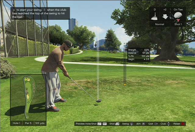 A golf course - Past time activities - Basics - Grand Theft Auto V Game Guide
