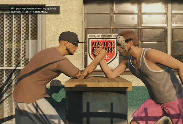 Arm wrestling - Past time activities - Basics - Grand Theft Auto V Game Guide