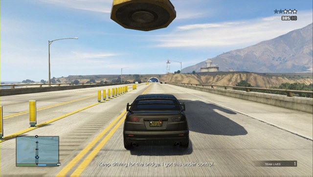 Drive the car under the magnet directly - Heist 1: Fleeca Job - Heists (DLC) - Grand Theft Auto V Game Guide