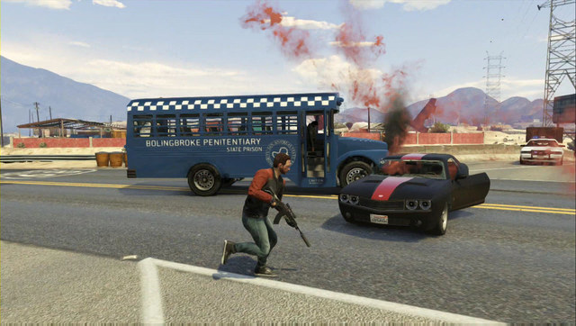 Steal the bus and do not batter it too much - Heist 2: Prison Break - Heists (DLC) - Grand Theft Auto V Game Guide
