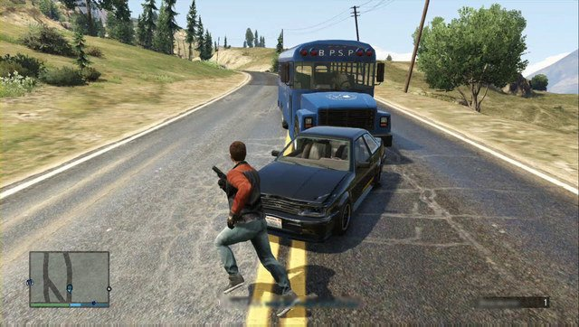 After the driver realizes what is going on, he starts escaping - kill him - Heist 2: Prison Break - Heists (DLC) - Grand Theft Auto V Game Guide