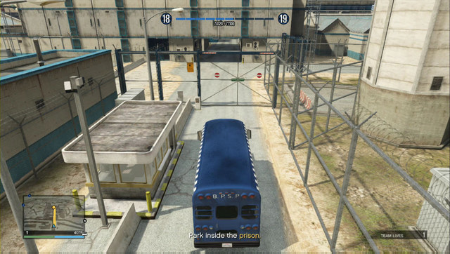 All of the gates swing open after you get into the bus - Heist 2: Prison Break - Heists (DLC) - Grand Theft Auto V Game Guide
