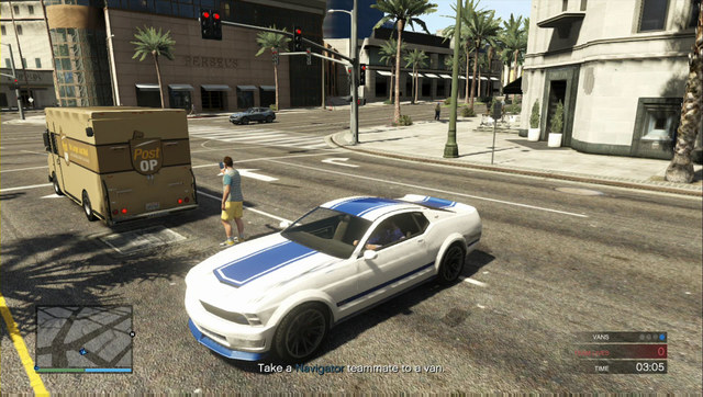 One of the Post-OP vans - Heist 5: Pacific Standard - Heists (DLC) - Grand Theft Auto V Game Guide