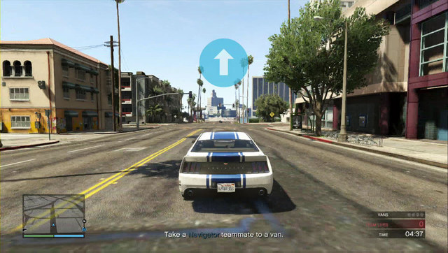 Blue arrows navigate you along the way - Heist 5: Pacific Standard - Heists (DLC) - Grand Theft Auto V Game Guide
