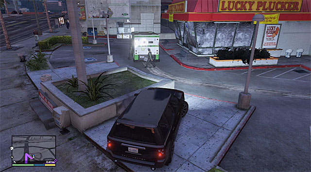 It is a good idea to attack the guard before he puts the briefcase into the van - Security vans (1-10) - Random events - Grand Theft Auto V Game Guide