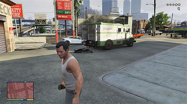A bomb is a good way to open the vans door - Security vans (1-10) - Random events - Grand Theft Auto V Game Guide