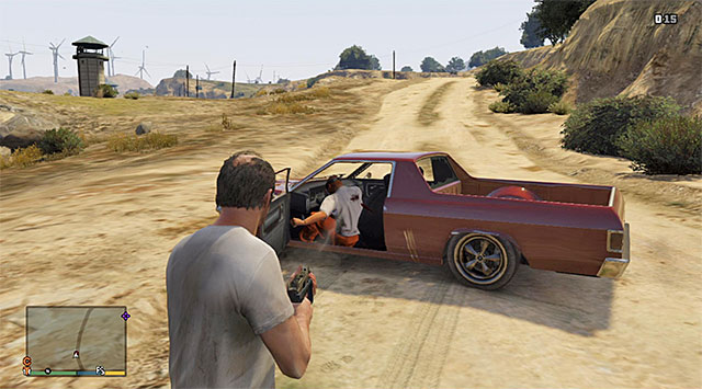Ignore the prisoner or kill him right after he steal the car from your character - Prisoner lift - 2 - Random events - Grand Theft Auto V Game Guide