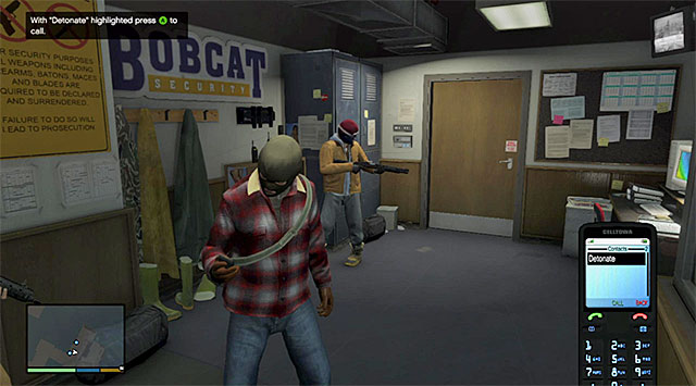 You need to use your phone to detonate the charge - 1: Prologue - Main missions - Grand Theft Auto V Game Guide