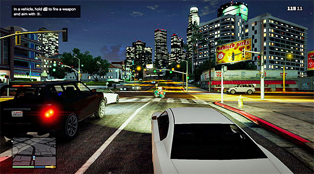 During the chase, try and avoid bumping into the other cars - 3: Repossession - Main missions - Grand Theft Auto V Game Guide