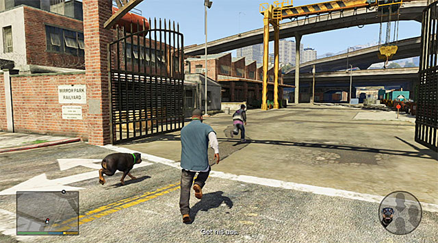 The final part of the chase - 4: Chop - Main missions - Grand Theft Auto V Game Guide