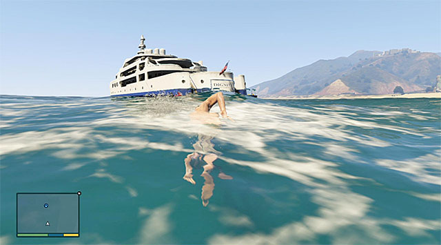 Try not to lose time while trying to reach the yacht - 9: Daddys Little Girl - Main missions - Grand Theft Auto V Game Guide