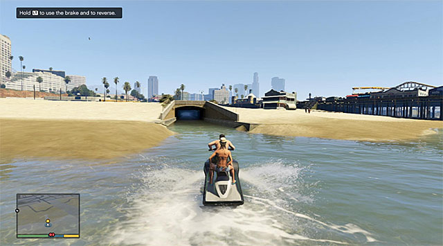 Start escaping on the ski jet with steering into the nearby tunnel. - 9: Daddys Little Girl - Main missions - Grand Theft Auto V Game Guide