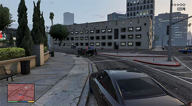 Watch out for the enemies who can get out of their car and open automatic rifle fire at you - 12: Carbine Rifles - Main missions - Grand Theft Auto V Game Guide