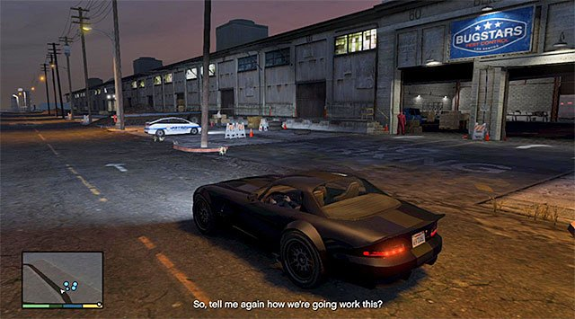 The harbor warehouse - 14: Bugstars Equipment - Main missions - Grand Theft Auto V Game Guide