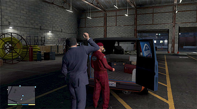 Walk around the warehouse to get to the back of the building - 14: Bugstars Equipment - Main missions - Grand Theft Auto V Game Guide