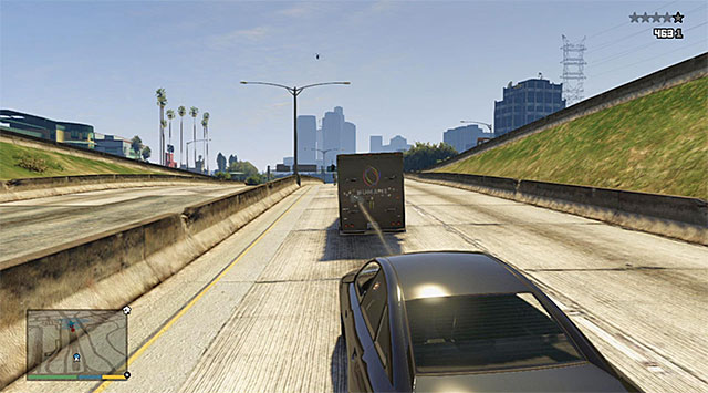 Destroying the vans back gate - 15: BZ Gas Grenades - Main missions - Grand Theft Auto V Game Guide