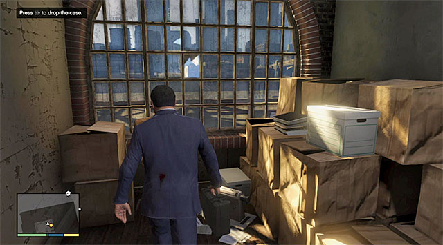 Leave the case in the room on the upper floor - 15: BZ Gas Grenades - Main missions - Grand Theft Auto V Game Guide